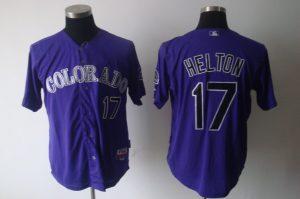 Cheap Colorado Rockies #17 Todd Helton purple MLB jerseys