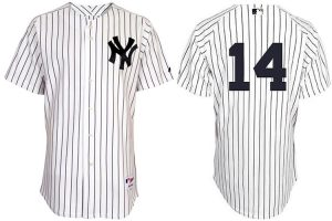 New York Yankees 14 Curtis Granderson Pinstripe Authentic Jerseys