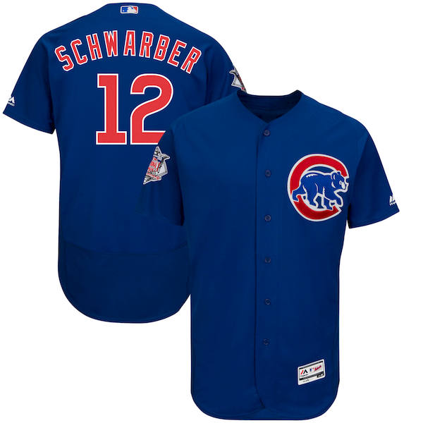 Men's Chicago Cubs Kyle Schwarber Majestic Alternate Royal Authentic Collection Flex Base Player Jersey