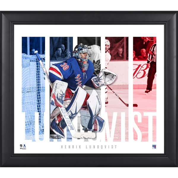 New York Rangers Henrik Lundqvist Fanatics Authentic Framed 15'' x 17'' Player Panel Collage