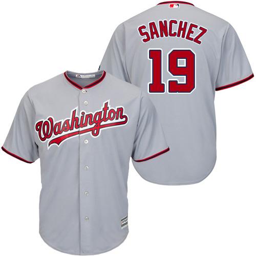 Nationals #19 Anibal Sanchez Grey New Cool Base St cheap Sanchez jersey