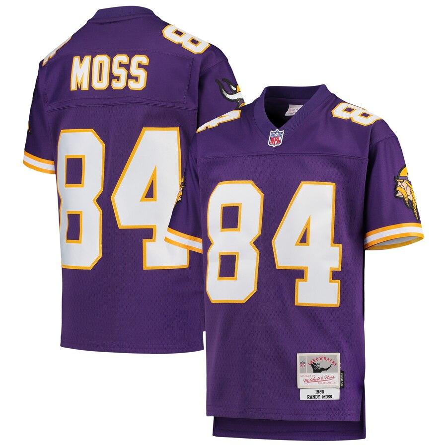 Youth Minnesota Vikings #84 Randy Moss Mitchell &  cheap youth jerseys